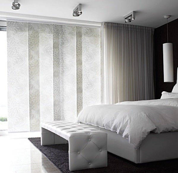 bedroom-with-sheer-panel-blinds